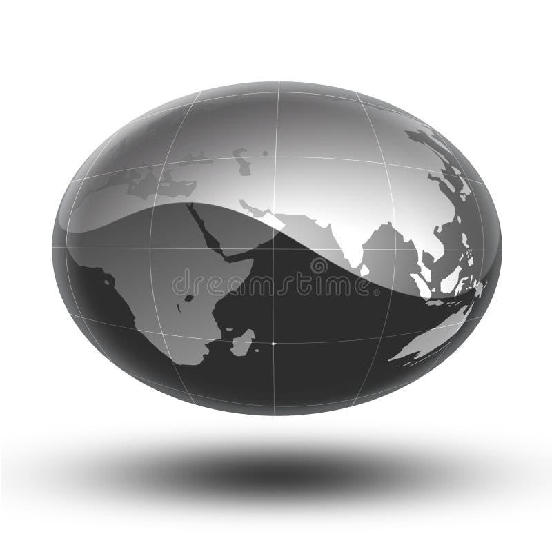 La terre grise Afrique vers l'Asie illustration libre de droits