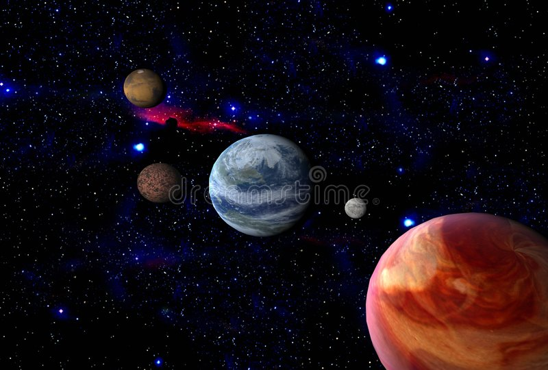 la terre Jupiter près illustration libre de droits
