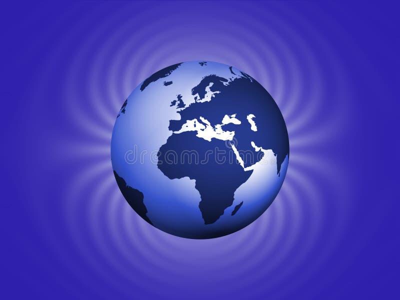 La terre magnétique illustration de vecteur