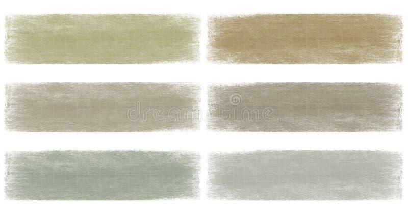 La terre neutre et positionnement grunge fané gris de drapeau image libre de droits