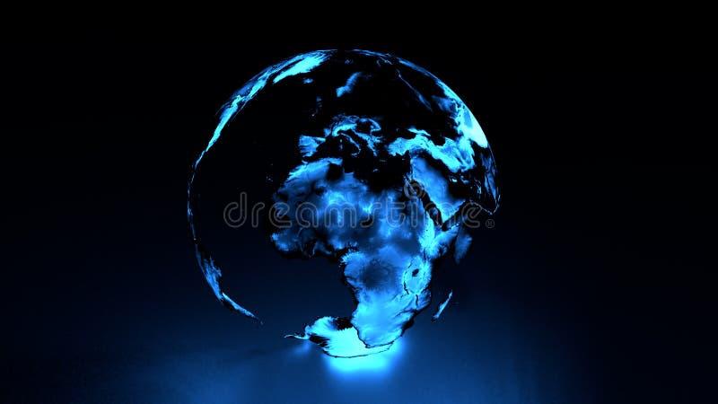 La terre olographe l'Europe Afrique Moyen-Orient illustration libre de droits
