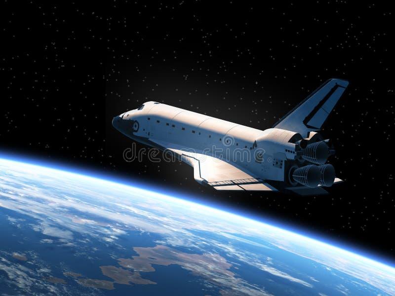 La terre orbitale de navette spatiale illustration stock