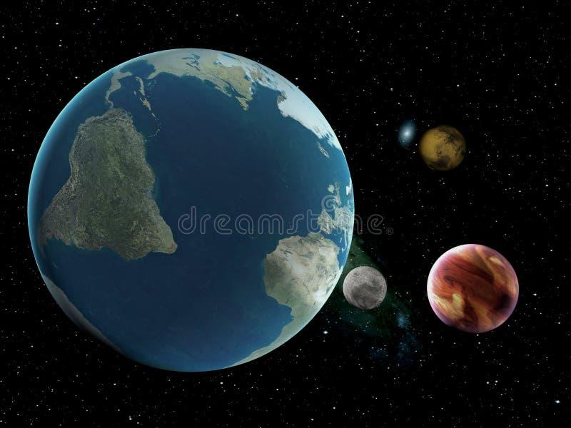 La terre paisible illustration stock