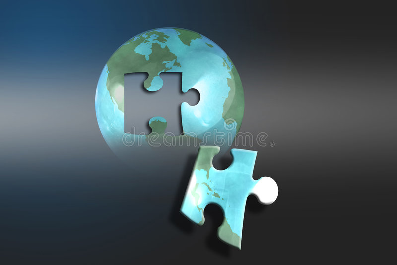 La terre perplexe illustration libre de droits