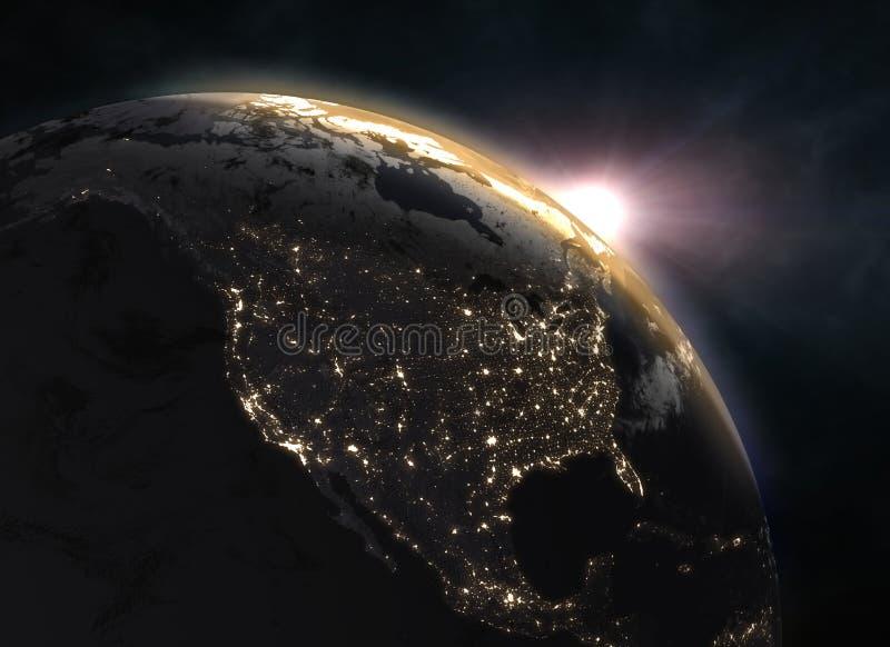 La terre réaliste de planète dans l'espace photos libres de droits