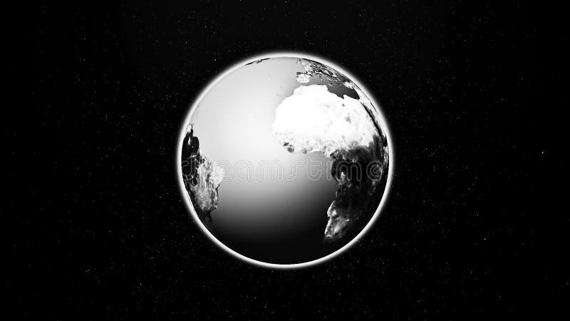 La terre réaliste de planète de l'espace images stock