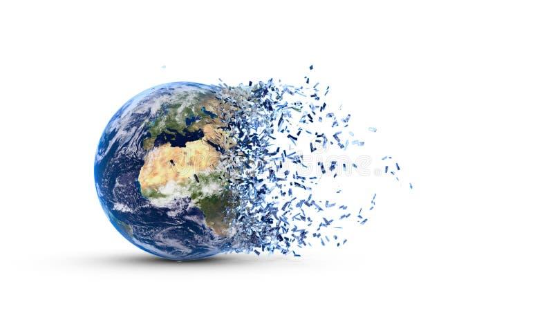 La terre réduite en fragments illustration de vecteur