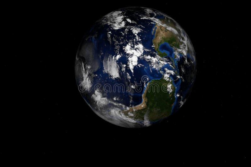 la terre rendue de haute résolution de la planète 3d illustration de vecteur