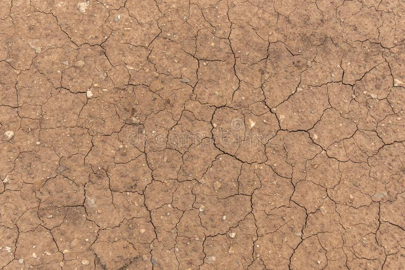 La terre sale criquée Texture au sol de sol Vue sup?rieure Concept de r?chauffement global photographie stock libre de droits