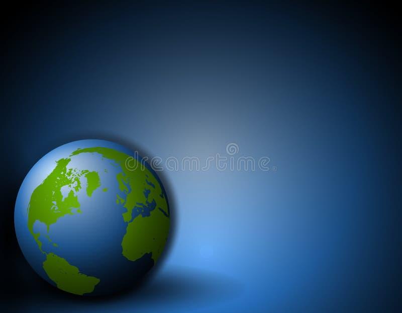 La terre se reposant sur le fond bleu au sol illustration libre de droits