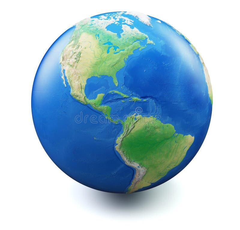 La terre sur le fond blanc illustration libre de droits