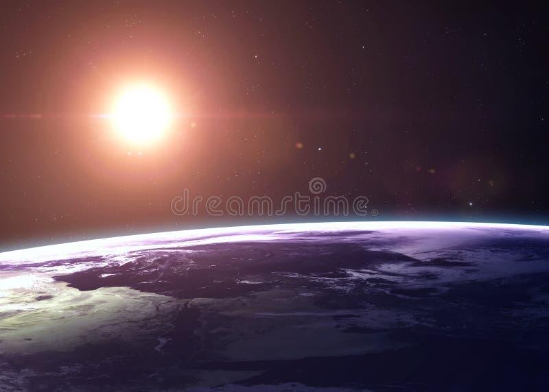 La terre a tiré de l'espace les montrant à tous beauté photographie stock libre de droits