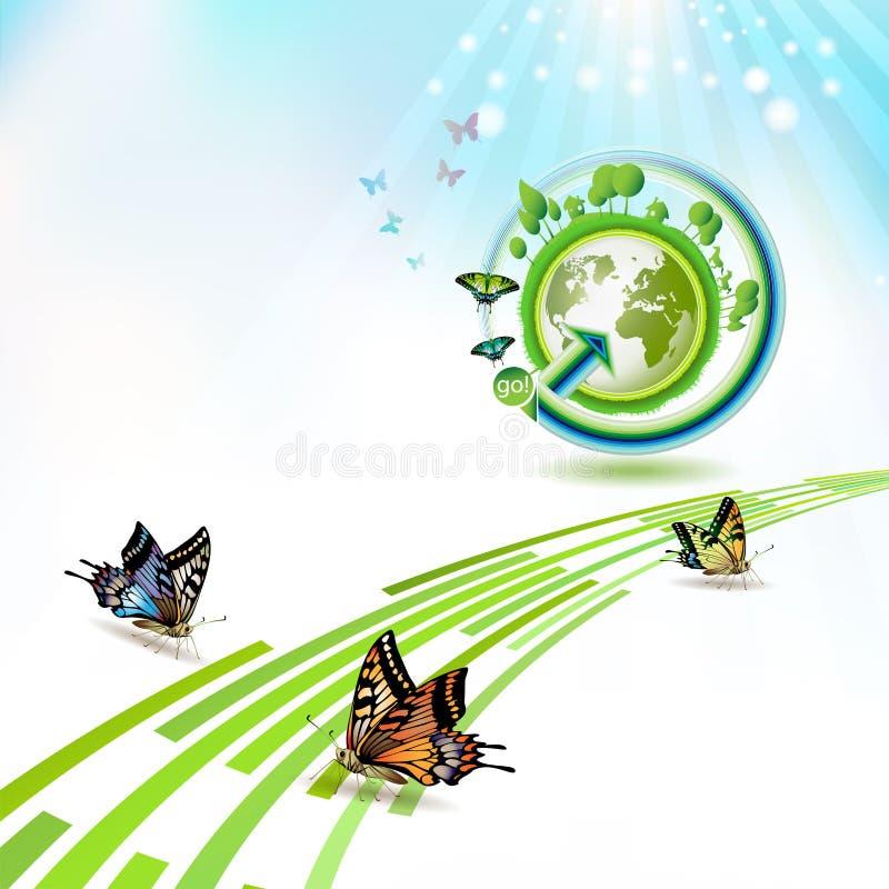La terre verte illustration de vecteur