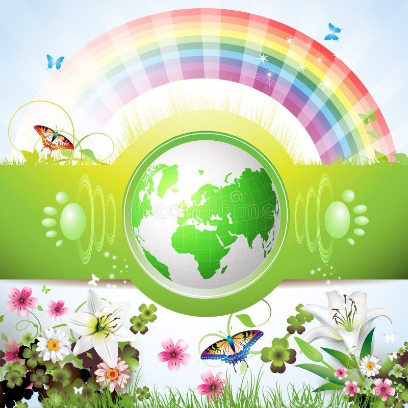 La terre verte d'Eco illustration libre de droits