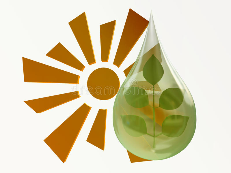 La terre verte de concept d'écologie, biosphère illustration libre de droits