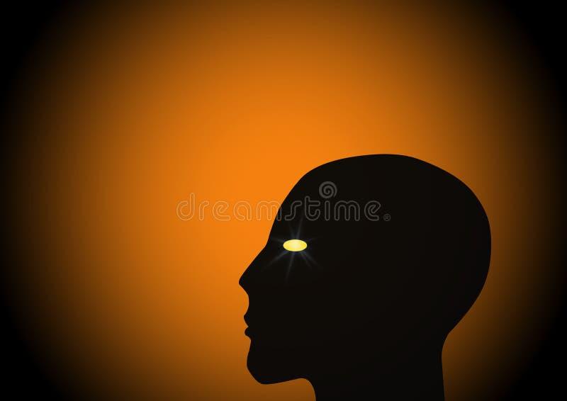 La testa illustrazione vettoriale