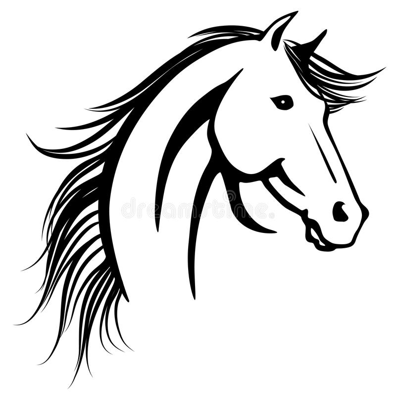 La testa del cavallo illustrazione vettoriale for Cavallo stilizzato