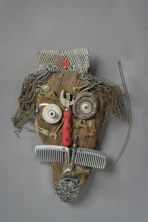 La testa di Art Doctor riciclato immagini stock libere da diritti