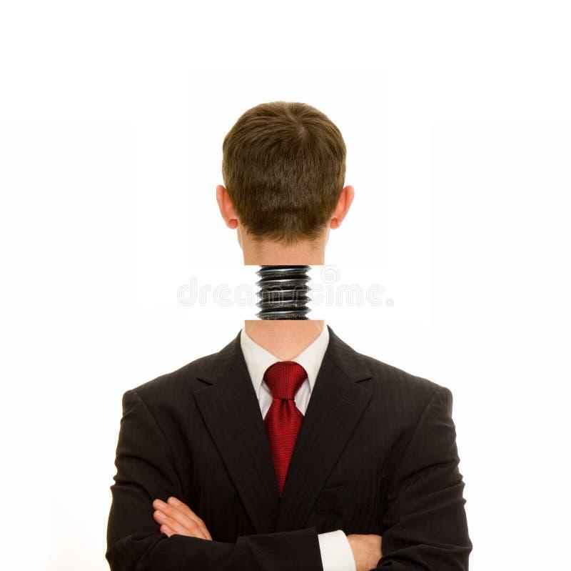 La testa ha avvitato sopra diritto immagini stock libere da diritti
