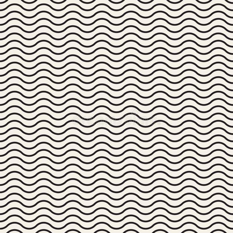 La textura abstracta del vector con las ondas, alisa curvas stock de ilustración