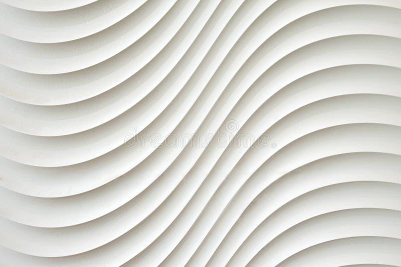 La textura blanca de la pared, modelo abstracto, agita el fondo moderno, geométrico ondulado de la capa de la coincidencia fotografía de archivo libre de regalías