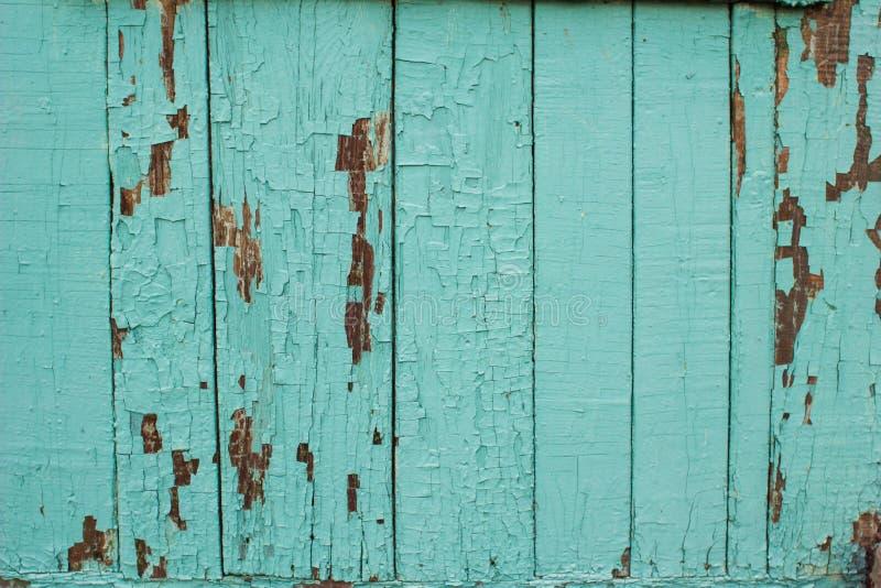 La textura de la madera vieja con la pintura que pela apagado fotografía de archivo