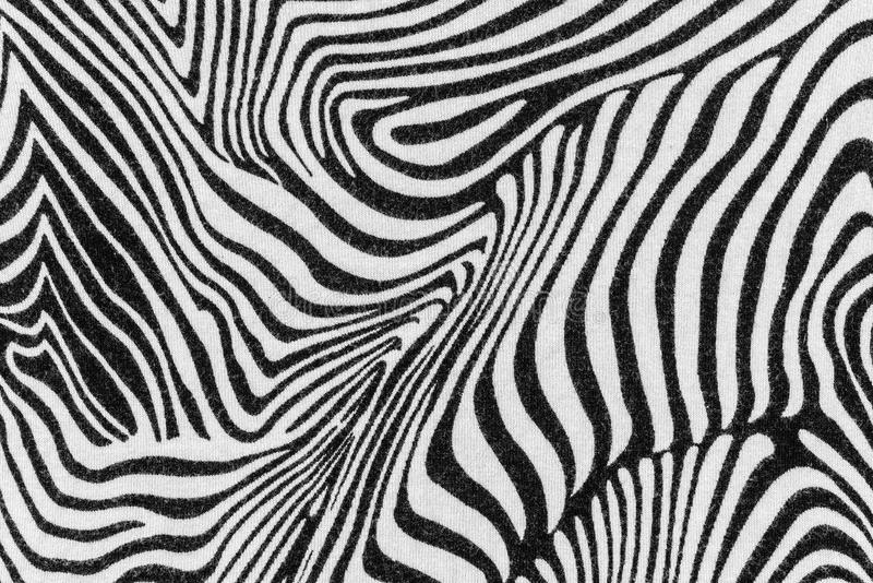 La textura de la tela de la impresión raya la cebra fotos de archivo