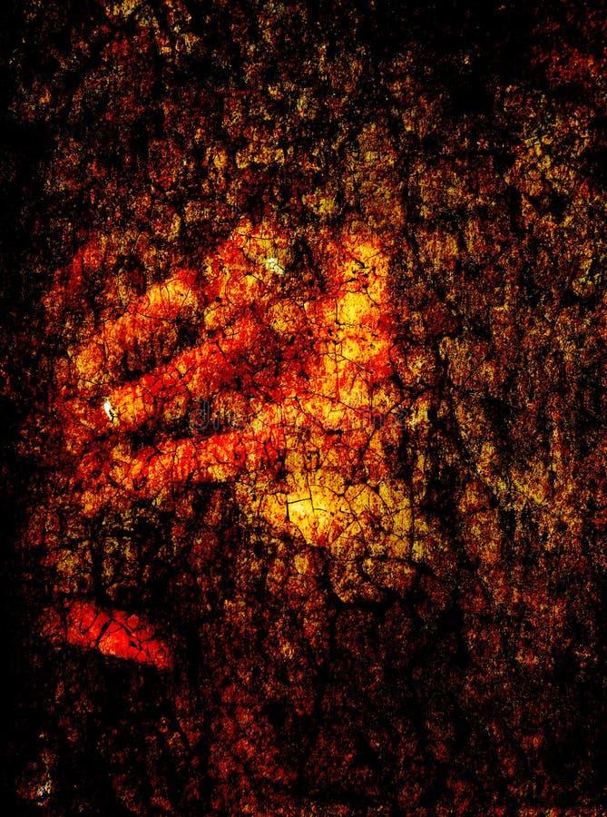 La textura de las grietas del árbol carbonizado viejo fotos de archivo