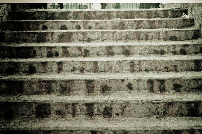 La textura de los pasos concretos, escaleras bajas foto de archivo