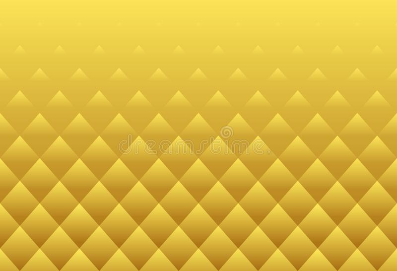 La textura de lujo del modelo de lujo del extracto de Buda del loto del oro ajusta stock de ilustración