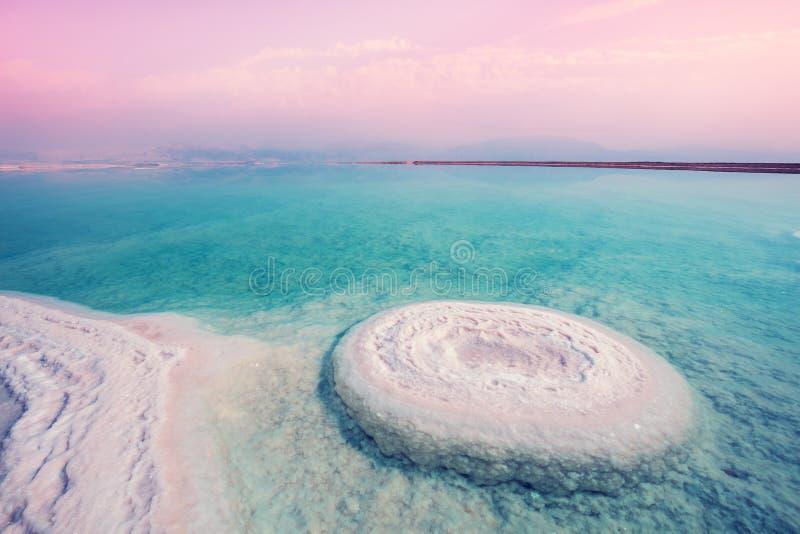 La textura de la orilla salada del mar muerto imagen de archivo