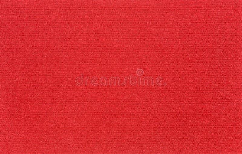 La textura de la tela de la lona es roja fotografía de archivo libre de regalías