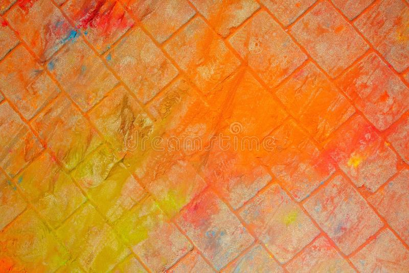 La textura del asfalto Las manchas multicoloras, salpican y remontan de la pintura seca fotografía de archivo libre de regalías