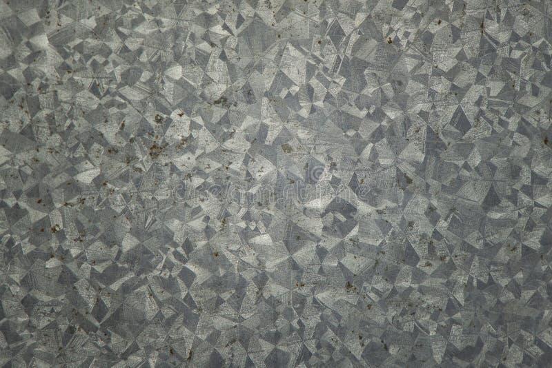 La textura del cinc, galvanizó el fondo de la placa de acero fotos de archivo libres de regalías