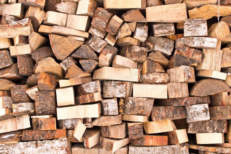 La textura del fondo de una pila grande de madera Cierre para arriba foto de archivo