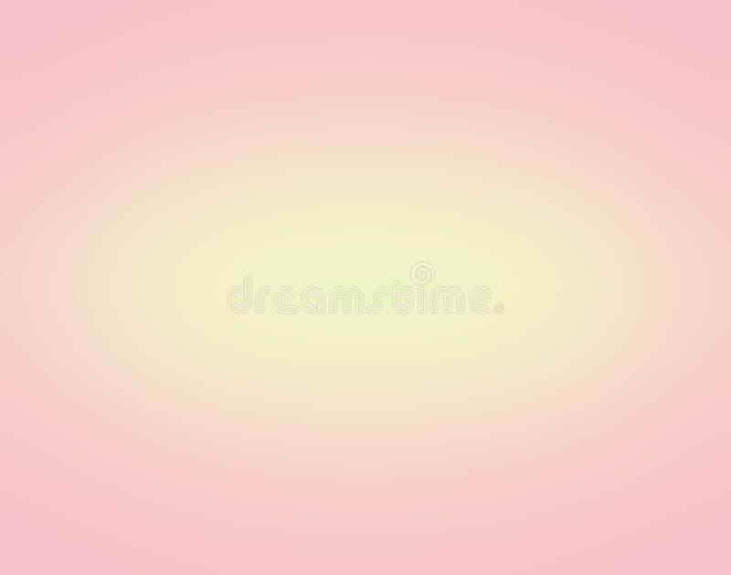 La textura del fondo del color en colores pastel del rosa y del amarillo para la tarjeta de visita diseña el fondo con el espacio ilustración del vector