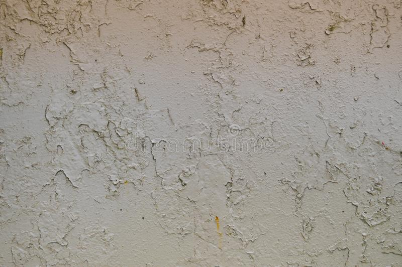La textura del metal del hierro pintó la pintura de peladura gris de viejo estropeado rasguñado agrietó la pared oxidada antigua  imagen de archivo libre de regalías