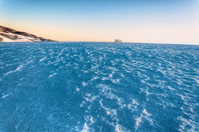 La textura del paisaje de la nieve fotografía de archivo