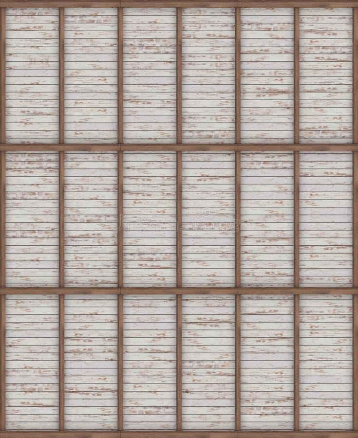 La textura del techo de madera con los haces Visión superior visualización 3d libre illustration