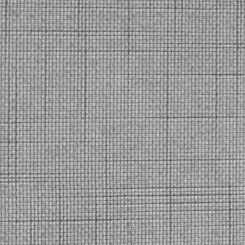 La textura gris inconsútil de la lona del modelo de rejilla rayó el fondo libre illustration