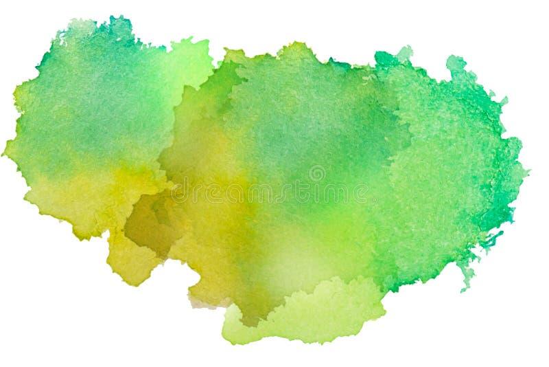 La textura multicolora del chapoteo de la acuarela borra el fondo aislado Gota dibujada mano, punto y gotitas del Grunge Salpicad fotografía de archivo libre de regalías