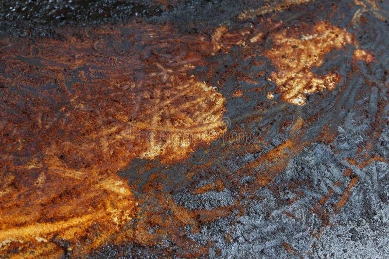 La textura sucia de la vieja parte inferior de la cacerola fotografía de archivo libre de regalías