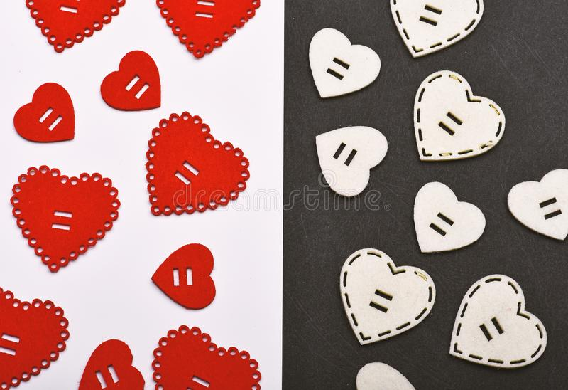 La texture avec des coeurs se ferment  Attributs traditionnels de jour de valentines Soyez mon Valentine Beau fond d?coration image libre de droits