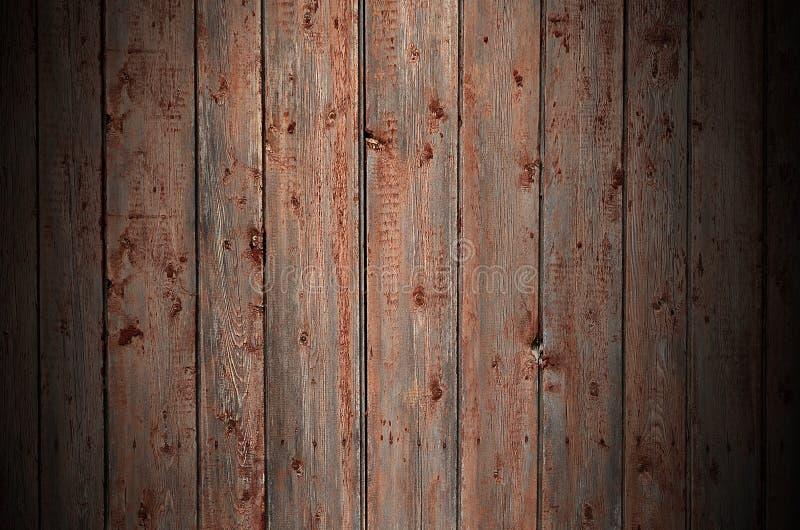 La texture d'une vieille barrière en bois rustique faite en appartement a traité des conseils L'image détaillée d'une barrière de image libre de droits