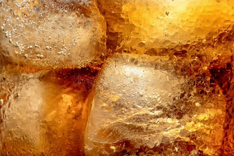 La texture de la boisson avec de la glace photos libres de droits