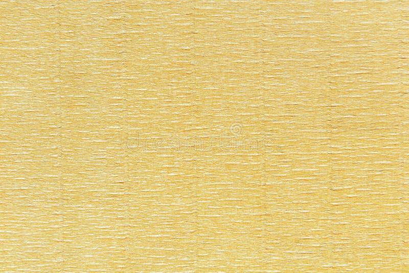 La texture de contexte de l'orange froissée drapent le papier image stock