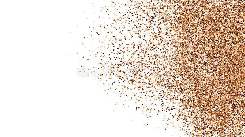 La texture de couleur de café a isolé sur le fond blanc images libres de droits