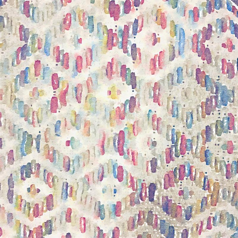 La texture de couverture tissée par fond abstrait a peint l'illustration d'aquarelle illustration de vecteur
