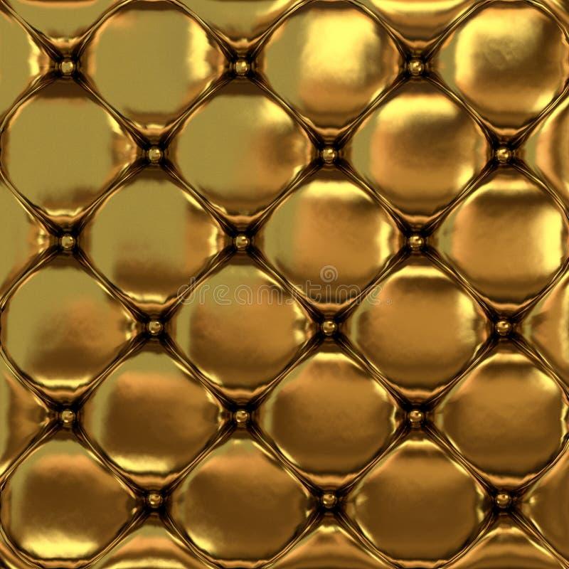 La texture de cuir d'or de la peau piquée photos stock