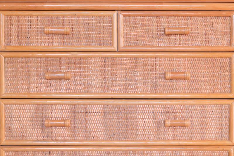 La texture de l'osier vêtx le fond de beige de boîte image libre de droits